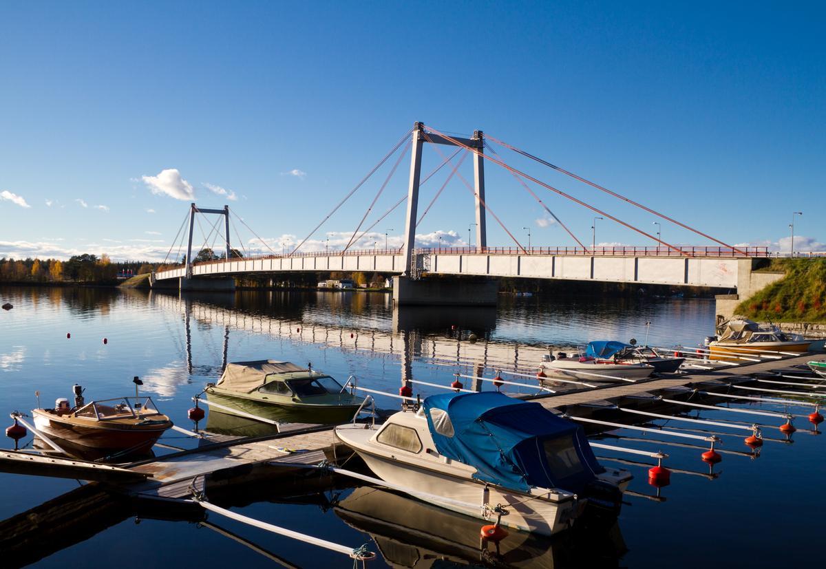 Strömsundbrücke in Strömsund, Schweden