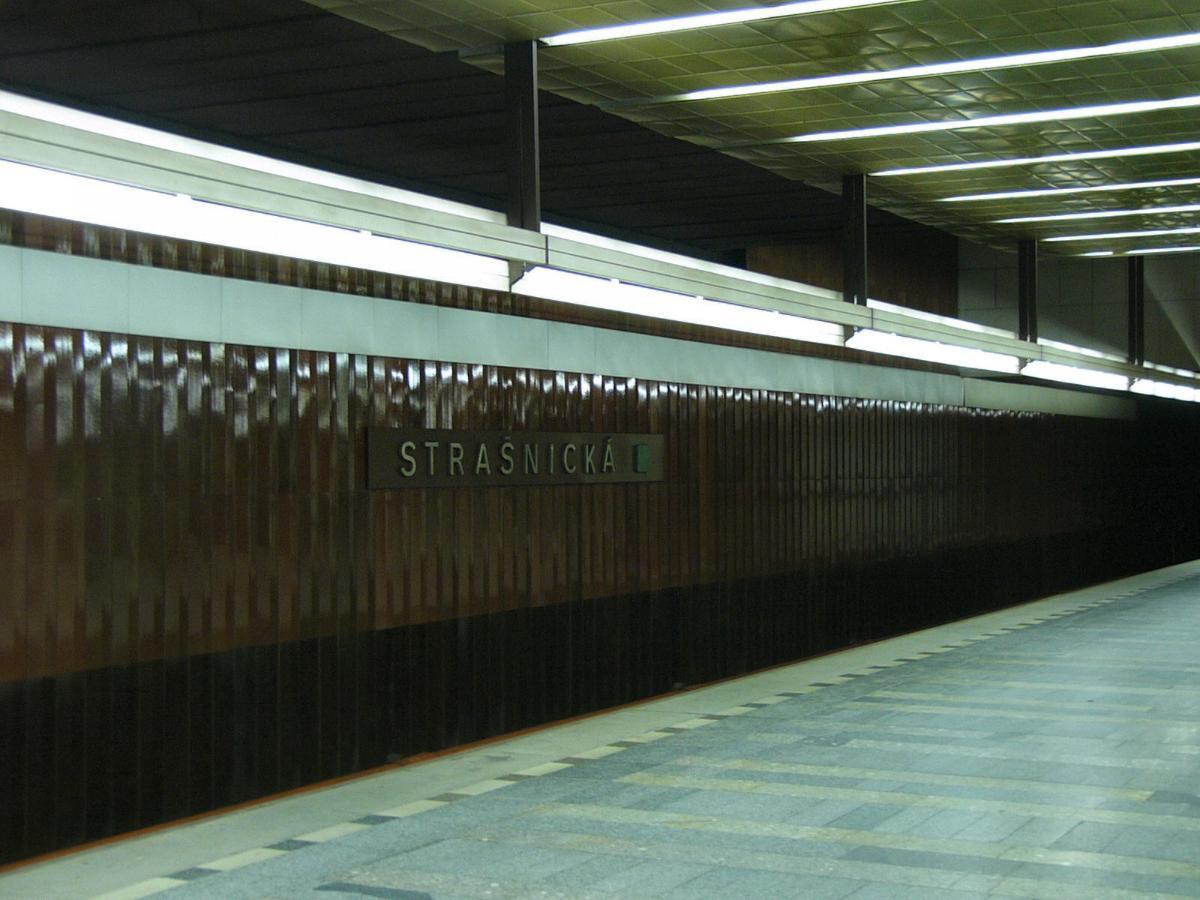 Strašnická Metro Station