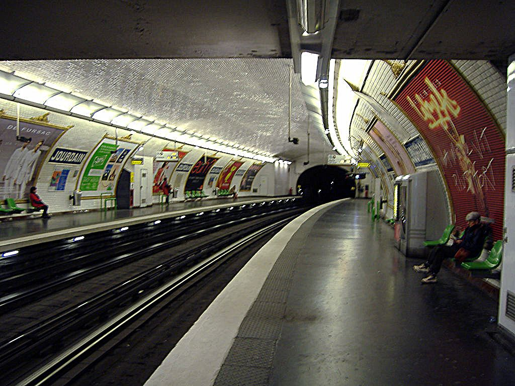Jourdain Metro Station