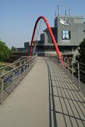 Footbridge across the Mülheimer Strasse at Oberhausen