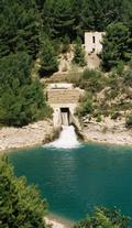 Inlet of the Canal de Provence at the Bimont Dam.