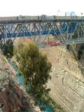 Road bridges on the Corinth Canal.
