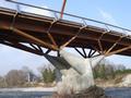 Crest - Pont de bois - Pile et tablier sur bracons en bois