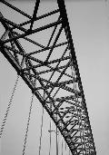 Bayonne Bridge.Detail of arch superstructure.  (HAER, NJ,9-BAYO,1-5)
